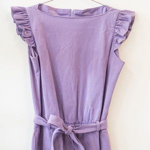 Other - VINTAGE 70s Purple Flutter Sleeve Jumpsuit